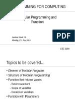 Modular Programming and Function
