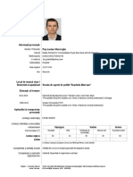 Cv Pop Lucian Politie Model CV