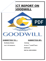 Project Report on Goodwill