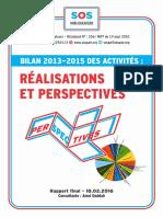 Rapport SOS PE 2013-2015