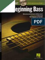 Hal Leonard - At a Glance. Beginning Bass
