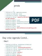 Day Wise Agenda - SMC