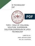 Rubber Technology Assignment
