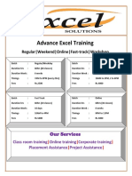 Excel Course Content Advance Excel