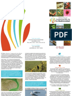 Máster Oficial en Conservación de la Biodiversidad. tríptico