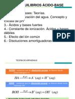 Tema 10. Acidos y Bases. QUImica