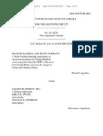 Branch Banking and Trust Company v. S&S Development, Inc., 11th Cir. (2015)