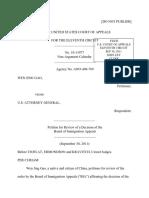 Gao v. U.S. Attorney General, 11th Cir. (2011)