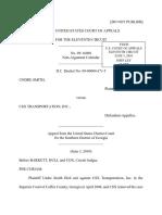 Undre Smith v. CSX Transportation, Inc., 11th Cir. (2010)