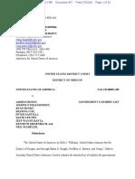 07-29-2016 ECF 957 USA v a BUNDY Et Al - Government Exhibit List