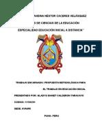 Trabajo_autoinstructivo de Propuesta Metodologica Para El Trabajo en Educacion Inicial Junio