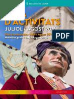 Guia Activitats Juliol Agost 2016