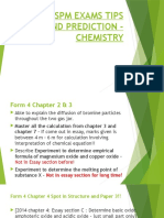 2015 Spm Exams Tips and Prediction - Chemistry