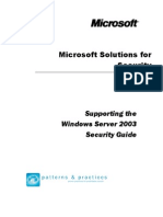 Supporting the Windows Server 2003 Security Guide