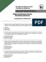 Examen de Patología Médica General, Semiología y Propedéutica