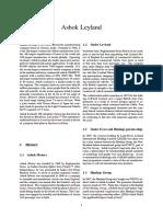 Ashok Leyland pdf | Motor Vehicle | Automotive Industry