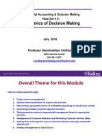 Note Set # 2 -- Economics of Decision Making Four Cases MADM 2016