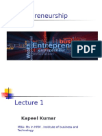 Entrepreneurship lecture 1.ppt