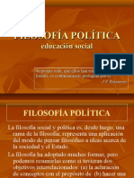 FILOSOFÍA POLÍTICA