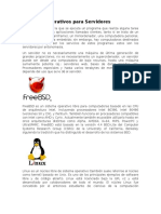 Sistemas Operativos Tipo Servidores