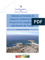 Documento de Sintesis de La Adenda Del EsIA Ampliacion Puerto de Tarifa PDF