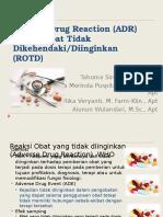 Kuliah 10-11, ADR (Adverse Drug Reaction)