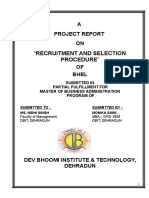 """RECRUITMENT AND SELECTION PROCEDURE"" BHEL.doc"