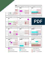 Calendario Postgrados 2016