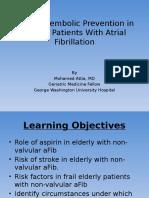 Anticoagulation in Elderly