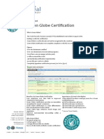 Factsheet Green Globe Certification v1