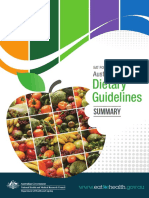 Australian Dietary Guidelines Summary 131014