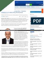 Morepen Laboratories Ltd - 1 Position Globally for Its Bulk Drug Montelukast