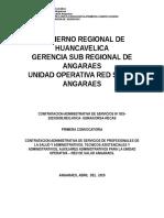 01.- Bases de La Convocatoria Cas Salud 2015