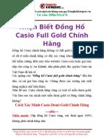 Giá Đồng Hồ Casio Chính Hãng Hcm Chỗ Nào Bán Chuẩn