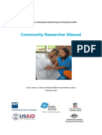 EA PM&E Toolkit Community Researcher Manual for Publication