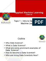 Topic 2 - Intro to Data Science  Machine Learning.ppt