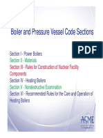 Boiler and Pressure Vessel Code Sections