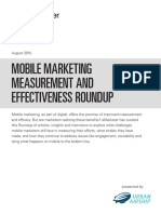 MOBILE MARKETING MEASUREMENT AND EFFECTIVENESS ROUNDUP by eMarketer