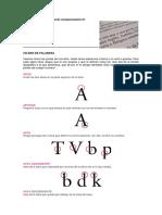 La_forma de Las Letras