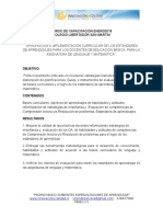 Programa de Trabajo Estandares de Aprendizaje Enero 2015 Cch