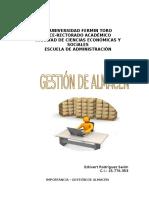 Gestión de Almacén - Edilvert Rodríguez