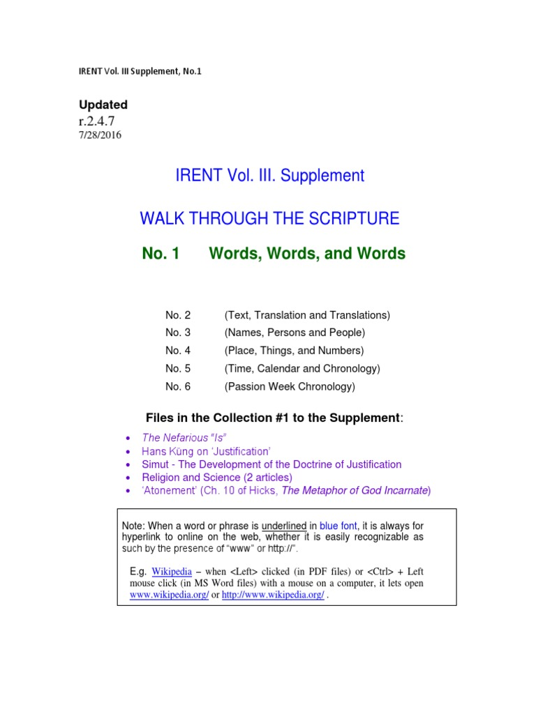 Walk Through The Scripture   Words, Words and Words r.9.9.9 ...
