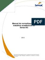 Manual de normalização de trabalhos acadêmicos do Senac/SC