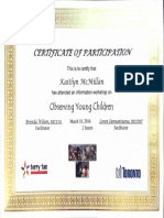 observing young children certificate