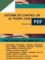 Sistema de Control en El PJ
