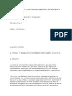 LABORAL El Artículo 47 Bis Del Código de Procedimiento Laboral de Santa Fe. [Sydiaha, Alejandro]