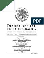 Diario Oficial 29 de Julio 2016 México