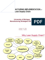 Lean Manufacturing Implementation -- Lean Supply Chain