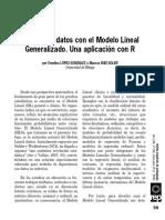 Analisis de Datos con el modelo lineal generalizado