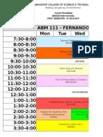 Schedule - SHS 1st Sem 2016-2017 (Revised)